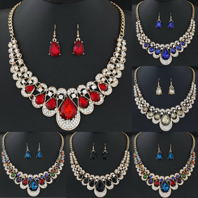 Women Rhinestone Jewelry Set