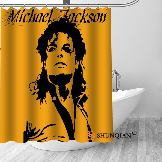 24 Michael jackson shower curtain washable thickened 5c64f7a44eda9