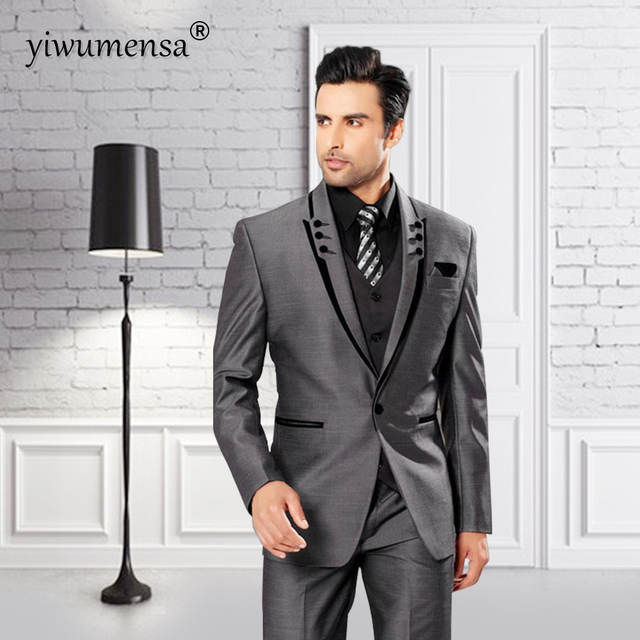 yiwumensa new costume mariage homme 2017 men suit button fly costumes hommes trajes de hombres. Black Bedroom Furniture Sets. Home Design Ideas