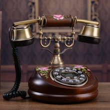 Genuine exports of wood have caller ID  technology European classical garden antique telephone