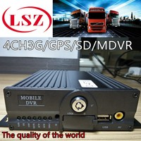 MDVR 4ch spot wholesale 3G GPS Beidou double SD truck load monitoring host car AHD video recorder