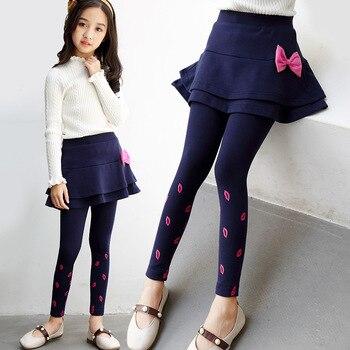d9c6da5d3 Primavera otoño 2018 nuevas polainas para niñas falda-Pantalones chico moda  falda pastel Niña ...