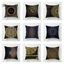 Fuwatacchi Golden Black Cushion Cover Mandala   Soft Throw Pillow Cover Decorative Sofa Pillow Case Pillowcase цены