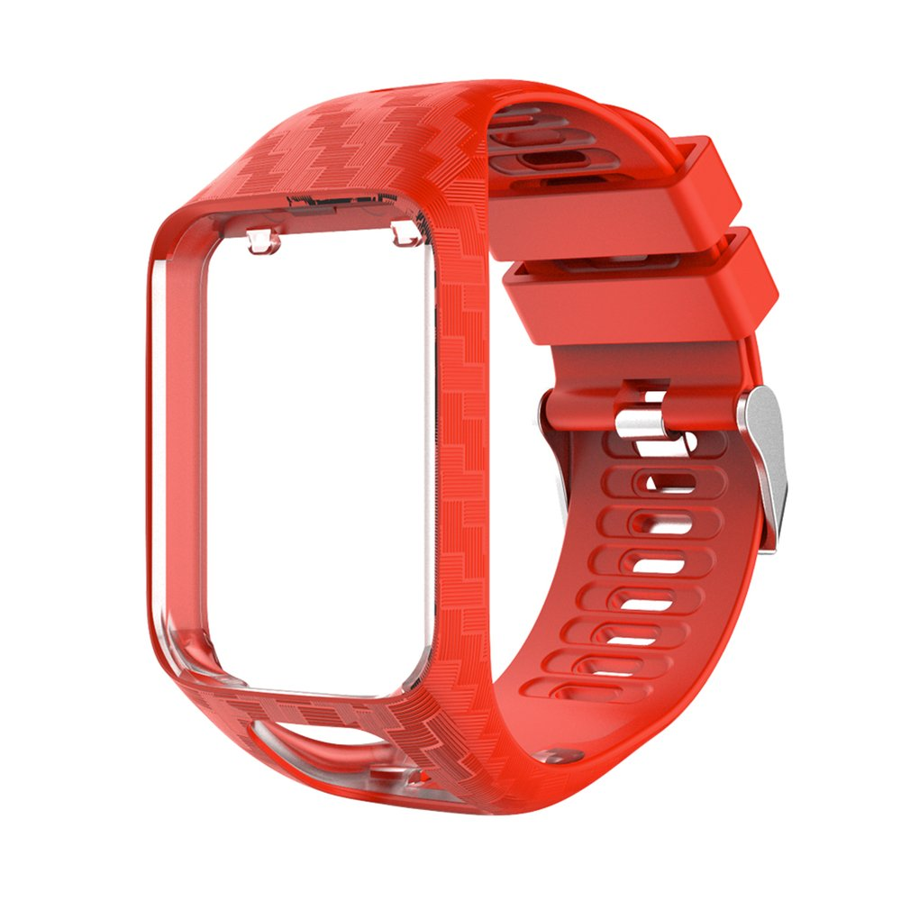 Watchband For Tom Tom 2 3 Series Watch Strap Silicone Replacement Wrist Band Strap For TomTom Runner 2/3 Adventurer GPS Watches