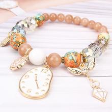 Bohemian Beaded Heart Clock Charm Bracelets For Women New Ethnic Bracelet Fashion Jewelry Birthday Gift