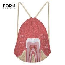 4581a51a396d FORUDESIGNS Drawstring Bag Gym Bag Women Fitness Cartoon Teeth Printed Sports  Bags Training Athletic Bag Gym