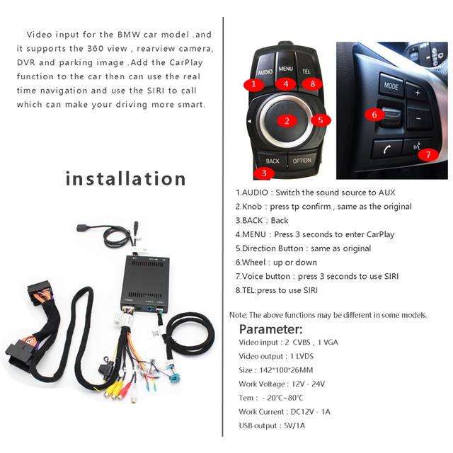 US $271 66 |Siniaryu New IOS Car Mirrorlink Apple Airplay Android Auto  CarPlay Box For BMW 1/2/3/4/5/7 Series X3 X4 X5 X6 MINI NBT System-in Car