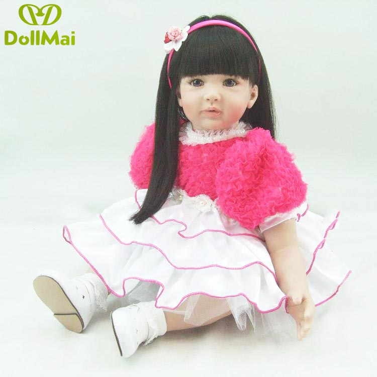 high quality 60CM lifelike reborn lovely premmie baby doll realistic boneca reborn silicone hot toys for kids Christmas Gifthigh quality 60CM lifelike reborn lovely premmie baby doll realistic boneca reborn silicone hot toys for kids Christmas Gift