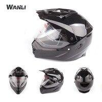 Off Road Full Face Helmet for Motocross ATV MX Enduro Quad Sport, ECE approved (Black Venom Graphic, Large)