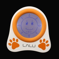 LALU Chidlren Sleep Trainer Simulation of Diurnal Change Graphic Clock Alarm Lovely Pattern Reminder with Story Book Kids Gift