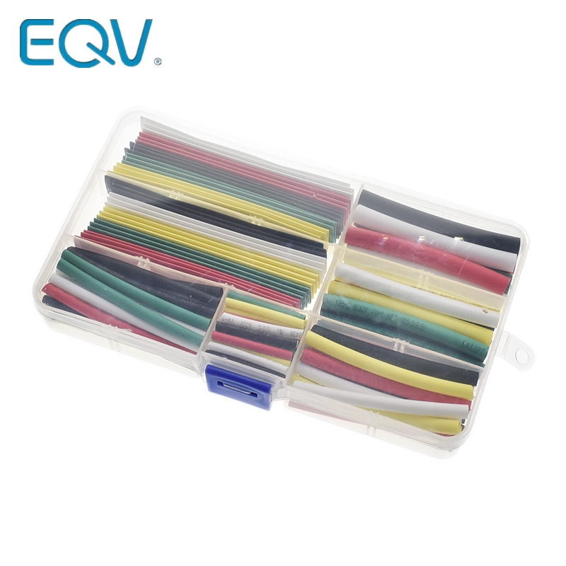Heat Shrinkable Tube Technicolor 2mm 3mm 4mm 5mm 6mm 8mm 10mm Tubing Sleeving Wrap Wire Cable Kit