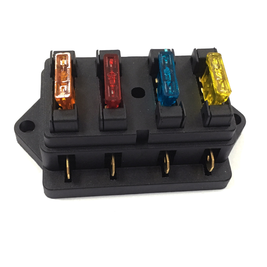 4gang 32v 24v 12v car fuse holder truck rv racing marine. Black Bedroom Furniture Sets. Home Design Ideas