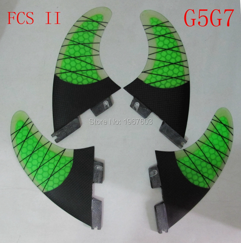 G7G5 FCS II 2 Surf aletas medio al carbono Quad de Surf placa Fin (2 G7 2 G5) accesorios para tabla de surf SUP-in Surf from Deportes y entretenimiento on AliExpress - 11.11_Double 11_Singles' Day 1