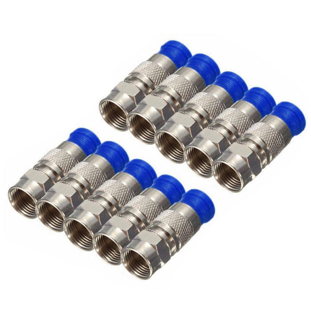 10 stücke RG6 Pressverbinder Wasserdichte Verbindung F ...