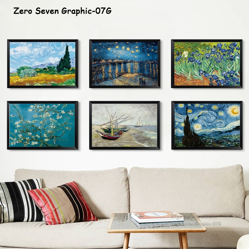07G Van Gogh Oil Painting Works Sunflower Apricot Abstract A4 A3 A2 Canvas Art Print Poster 07G Van Gogh Oil Painting Works Sunflower Apricot Abstract A4 A3 A2 Canvas Art Print Poster Picture Wall House Decoration Murals