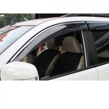 цена на Lsrtw2017 Car Window Rain Shade Strip Trims for Mitsubishi Pajero Sport Montero 2008 2009 2010 2011 2012 2013 2014 2015 2016