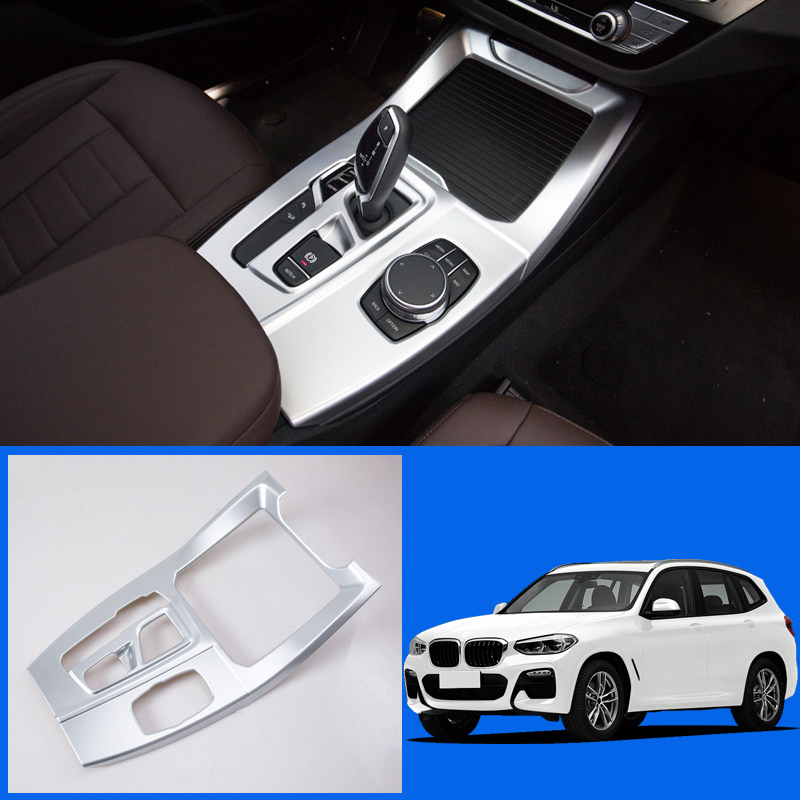 Interior Central Gear Box Panel Cover Trim ABS 1pcs Car Styling Accessories For BMW X3 G01 2018 Left Hand Drive Only for toyota highlander 2014 2015 abs auto interior chrome gear box panel modified hand brake trim decoration cover