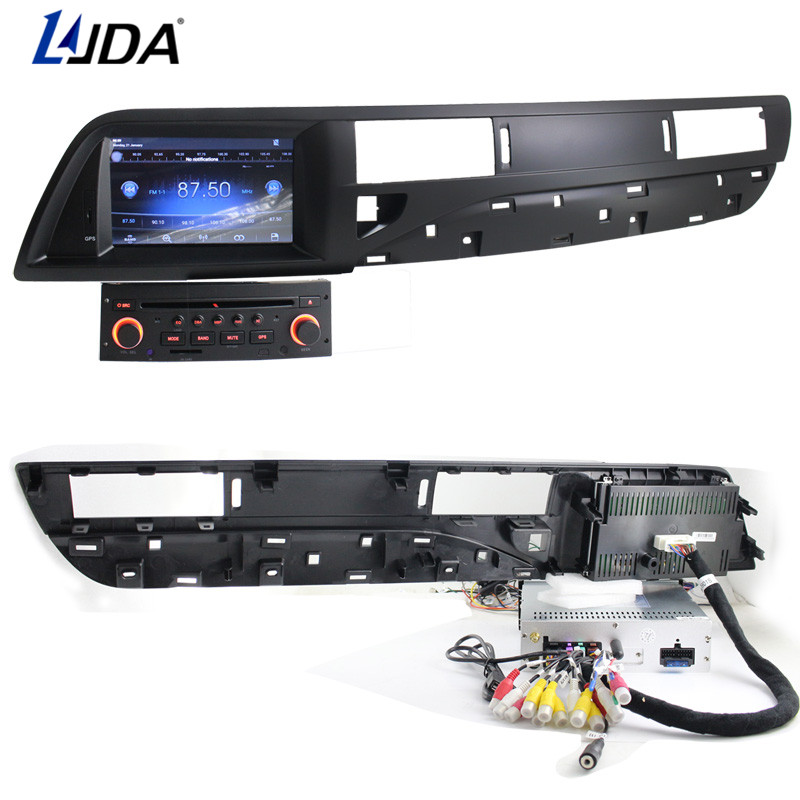 LJDA 1 din 7 Inch Android 6.0 Car DVD Player For Citroen C5 Auto Radio Audio RDS Bluetooth Canbus Map GPS Navigation Quad Cores ljda 2 din android 7 1 car dvd player for hyundai santa fe elantra wifi gps radio autoaudio stereo multimedia 2g 16g quad cores
