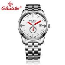 Gladster роскошные японские Miyota GP11-3H бизнес сапфировое стекло часы нержавеющая сталь мужские наручные часы календарь кварцевые мужские часы