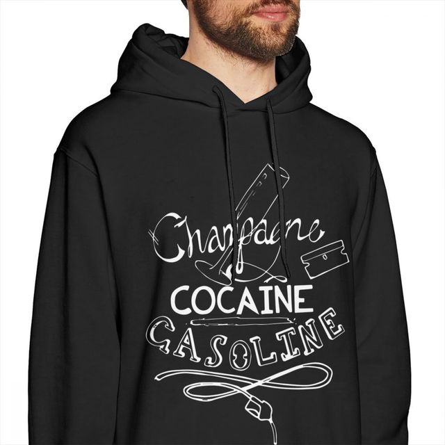 Panic At The Disco Hoodie Champagne Cocaine Gasoline Hoodies Streetwear Blue Pullover Hoodie Warm Long Men Large Popular Hoodies