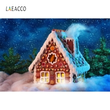 Laeacco Candy Ice Cream House Backdrop Children Party Portrait Photography Background Photographic For Photo Studio