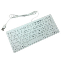 Ultra Thin Slim 78 Keys Mini Slim Portable USB Wired Keyboard Mini Keyboard For PC Computer