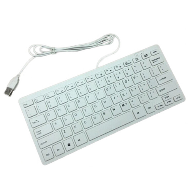 Ultra Thin Slim 78 Keys Mini Slim Portable USB Wired Keyboard mini ...