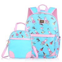 New Fashion Boys Girls Students Backpack Brand Waterproof Elementary School Bag Cute Cartoon Portable Children School