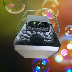 Gorąca sprzedaż 1 sztuk 60 w dla dzieci maszyna do baniek mydlanych dmuchawy auto bezprzewodowy pilot zdalnego maszyna do spieniania dla DJ Disco Party ślub etap specjalne efekt w Oświetlenie sceniczne od Lampy i oświetlenie na
