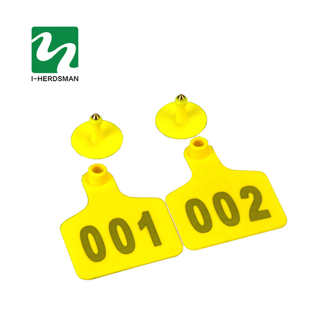 100 Pcs Farm Livestock Cattle Cow Ear tags Cattle Ear Marked Card Farm Animal Identificationd28