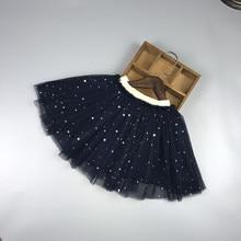 лучшая цена New Girls Skirt Tutu Stars Tulle Skirt for Dancing Party Pettiskirt Elastic Skirt Baby Ball Gown Toddler Kawaii Children's Skirt