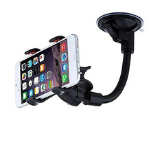 Double Clip Car Phone Holder Windshield Phone Holder Mount with Suction Cup for iPhone 4/4S/5/5S/SE/6/6S Xiaomi Redmi 3/4