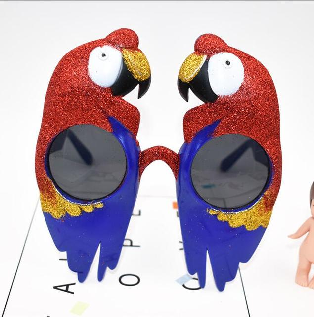 Guacamayo Aves Divertido Decorativos Gafas Loro Escarlata De qVzGUpMS