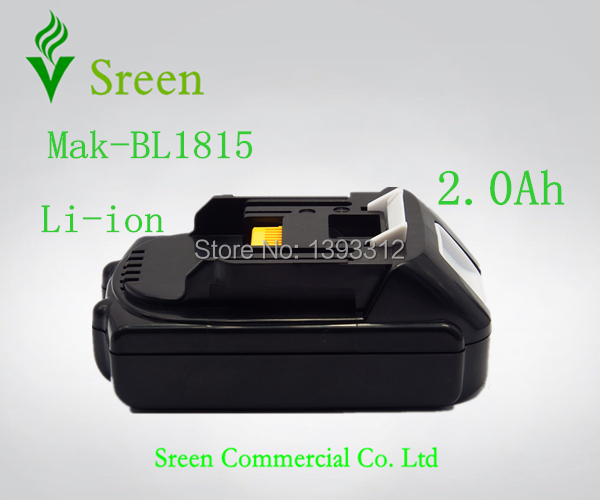 New Power Tool Battery 18V 2000mAh Li-Ion BL1820 Replacement Rechargeable Battery for Makita BL1815 LXT400 194205-3 194230-4 18v 6000mah rechargeable battery built in sony 18650 vtc6 li ion batteries replacement power tool battery for makita bl1860