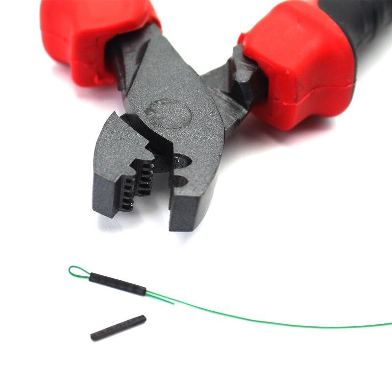 Multifunction Fishing Scissors Crimping Pliers Line Hook Cutter Fishing Grip Hook Split Rings Tackle Tool High Carbon Steel Jaws