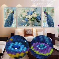 Needlwork Diamond Embroidery 5D DIY Diamond Painting Cross Stitch Special Shaped Full Diamond Set Decorative Peacocks