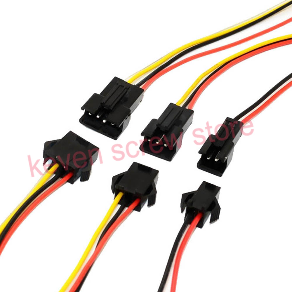 20pairs Sm2.54 5/6pin 10/15/20/25cm Pitch 2pin Connector Male Plug And Female Plug With 1007 24awg Electronic Wire Cable Making Things Convenient For The People Home Improvement