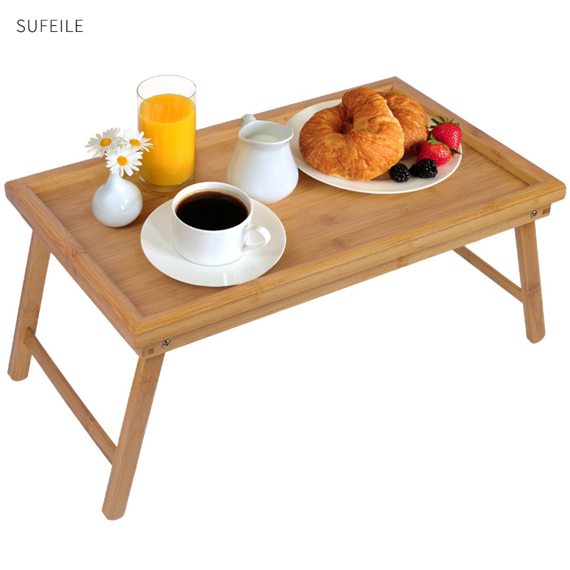 SUFEILE Laptop Stand Bed Tray Table With Folding Legs,Serving Breakfast in Bed or Use As a TV Table, Laptop Computer Tray D30-in Laptop Desks from Furniture