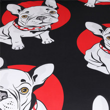 BeddingOutlet Bulldog Bedding Set Black and Red Quilt Cover With Pillowcases Cartoon Pug Dog Home Textiles for Kids 3-Piece