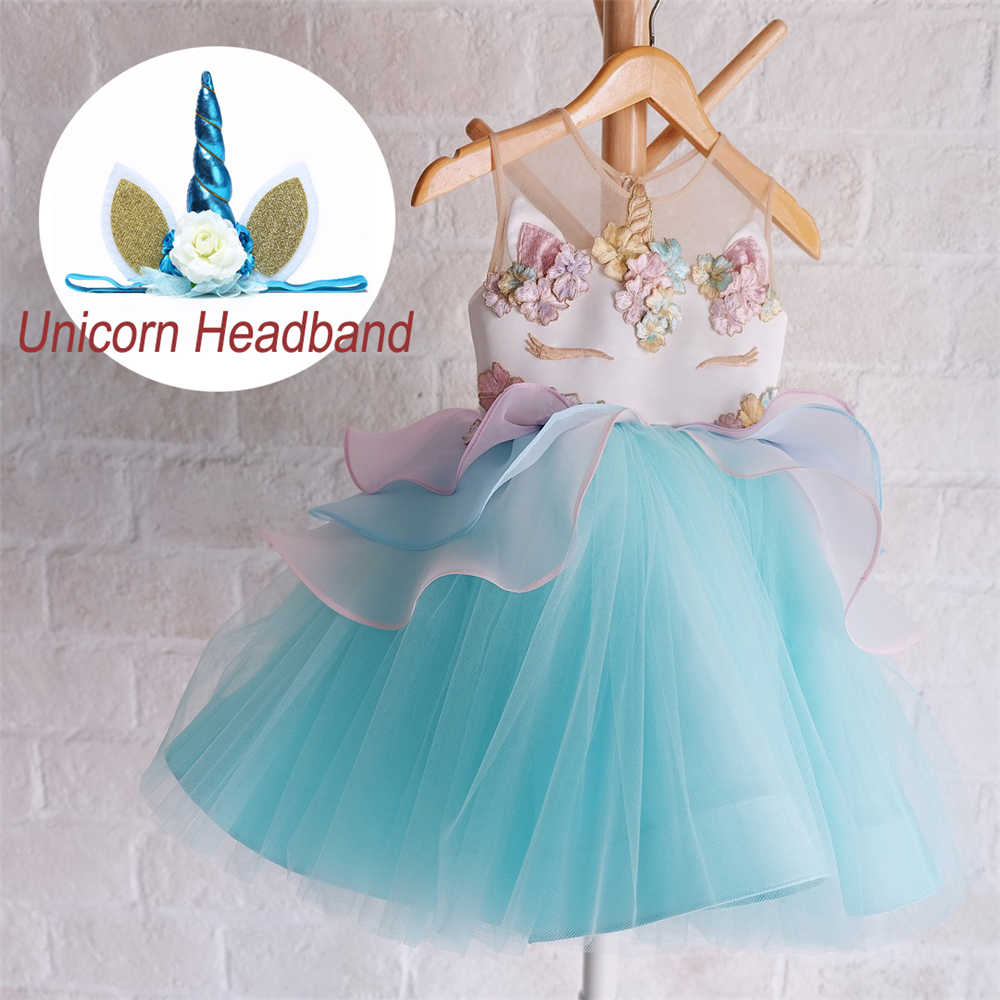 Fancy Kids Unicorn Dress for Girls Embroidery Flower Ball Gown Baby Girl  Princess Dresses for Party 24785935feed