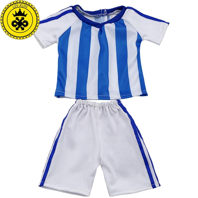 de649217495b Baby Doll Clothes Tracksuit Football Kits Doll Soccer Jerseys Sets ...