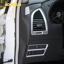 Aosrrun большой выключатель света и Пуговицы декоративные рамки приборной панели автомобиля крышка розетки автомобильные аксессуары для Nissan patril y62 2016 2017