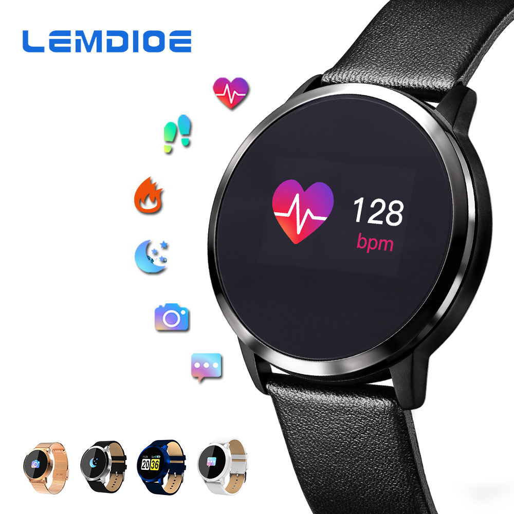 цены LEMDIOE New Smart Watch Men OLED Screen Bluetooth Women Fashion Waterproof Electronics Sport Tracker Heart Rate Wearable Devices