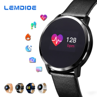 LEMDIOE New Smart Watch Men OLED Screen Bluetooth Women Fashion Waterproof Electronics Sport Tracker Heart Rate Wearable Devices