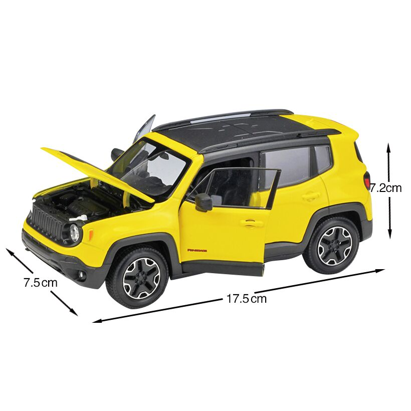 1 24 Renegade Trailhawk Suv Alloy Automobile Model Toy Car
