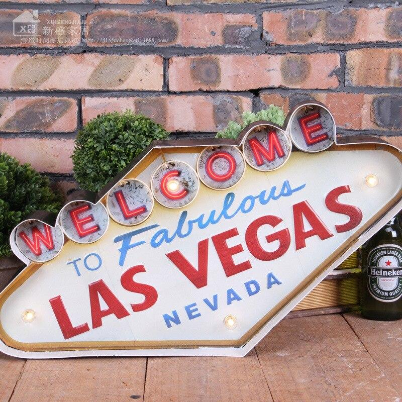 Shenjat e dritës së dritës së verdhë në Las Vegas të Las - Dekor në shtëpi - Foto 5