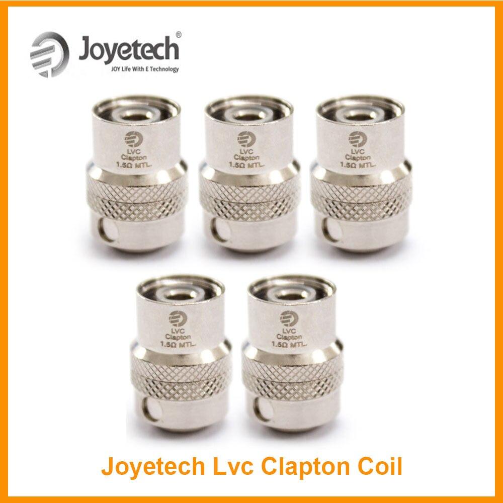 5pcs/10pcs/lot Original Joyetech LVC Clapton 1.5ohm MTL Coil Head for Cubis Pro Atomizer eGo Aio Tank Vape Electronic Cigarette
