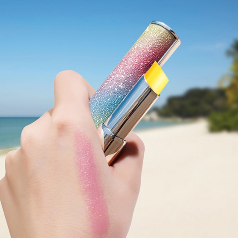 Color Changing Rainbow Lip Balm Color Star Shinning Lipstick Cute Makeup Waterproof Lasting Moisturizing Sexy Cosmetics in Lip Balm from Beauty Health