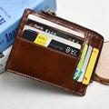 Homens titular do cartão de couro genuíno ID titular do cartão SD titular do cartão de crédito do vintage 2016 Homem carteira de alta qualidade caso