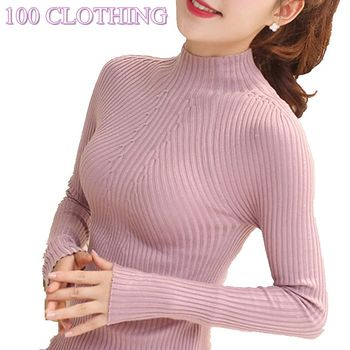 New Fashion Women turtleneck sweater 2018 Casual spring women bottoming slim warm knitted pullovers female burderry women